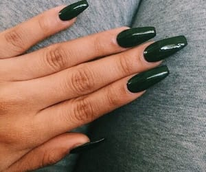 beauty, glam, and green nails image
