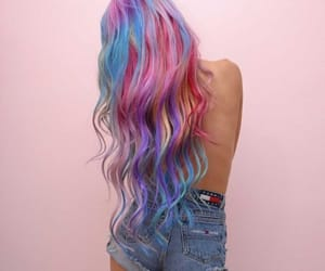 beautiful hair, dyed hair, and girl image