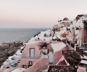 santorini, travel, and summer image