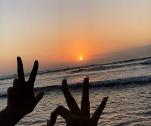 beach, reunion, and sun image