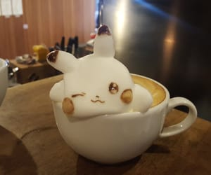 aesthetic, coffee, and pikachu image
