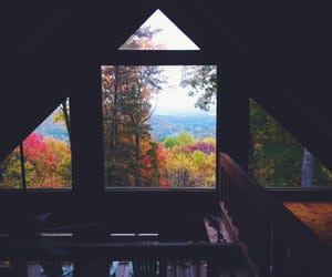 autumn, window, and colours image