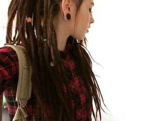 dreadlocks, dreads, and stretched ears image