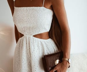 goals, pretty dress, and white dress image