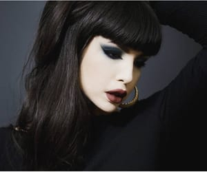 beauty, black, and black hair image