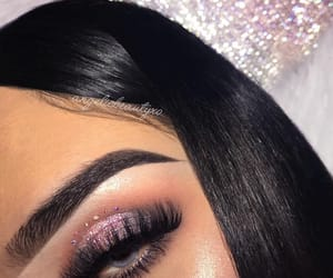 eyebrows, makeup, and pretty image
