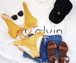 bikini, Calvin Klein, and clothing image