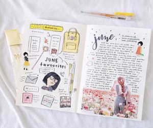 lettering, doodle, and journaling image