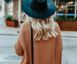 outfit, blonde, and fall image