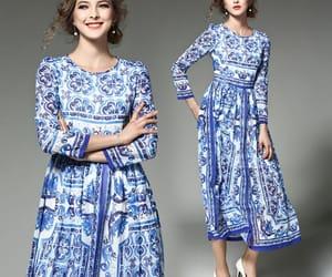 maxi dress, chiffon dress, and royal blue dress image