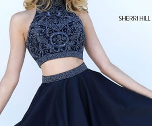 short prom dresses, navy homecoming, and 2017 beaded gowns image