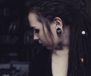 dreadlocks, punk, and stretched ears image