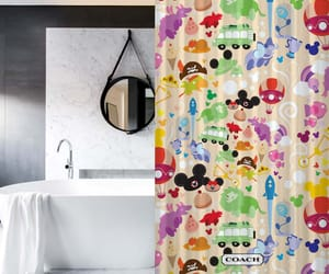 shower curtain, recommended, and floral shower curtain image