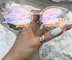 girl, glasses, and sunglasses image