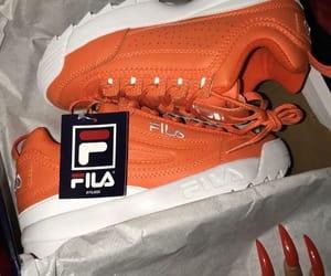 Fila, orange, and white image