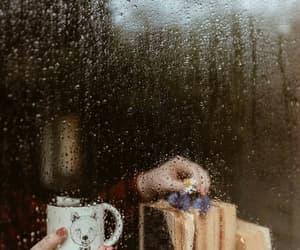 rain, autumn, and book image