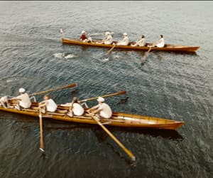 lake, rowing, and summer image