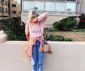 aesthetic, pink, and blonde image