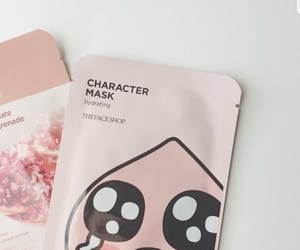 aesthetic, pink, and mask image