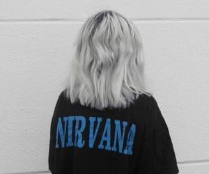 nirvana, girl, and hair image