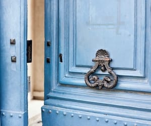 blue, door, and love image