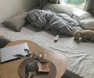 bed, aesthetic, and bedroom image