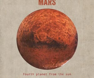 cosmos, mars, and planet image