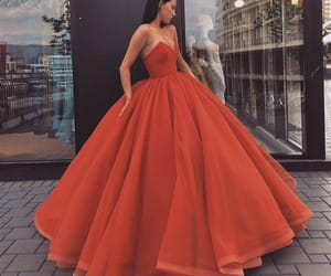 red, style, and dresses image