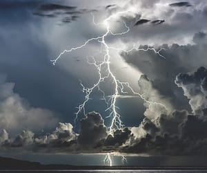 storm, clouds, and lightning image