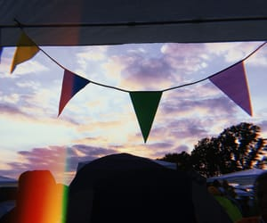 clouds, festival, and flags image