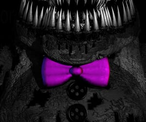 bow tie, purple, and fnaf image