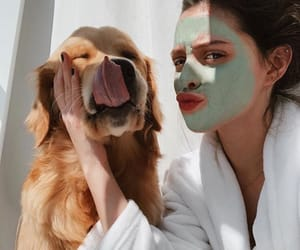 girl and dog image