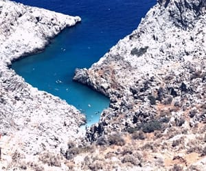 blue, crete, and summer image