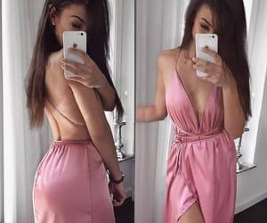 pink, rosa, and maxidress image