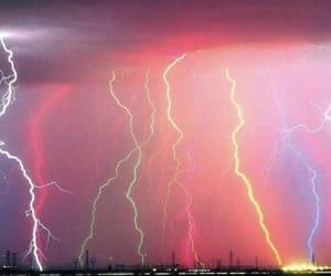 lightning, rainbow, and storm image