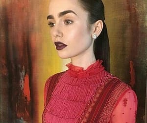 icon, layout, and lily collins image