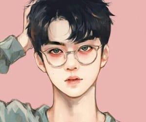 art, exo, and sehun image