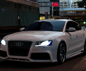 audi and white image