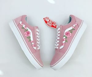 flowers, pink, and shoes image