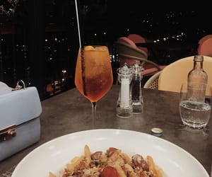 alcohol, city, and food image