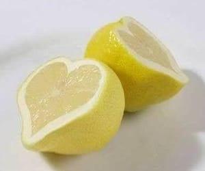 lemon, heart, and yellow image