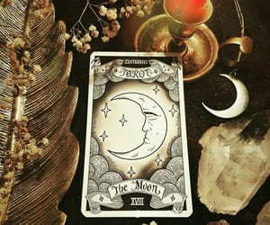 moon, tarot, and witch image