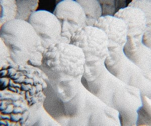 white, aesthetic, and statue image