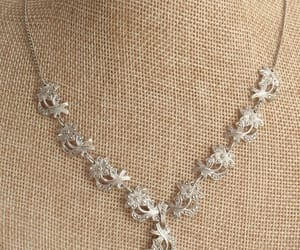 bridal necklace, etsy, and vintage image