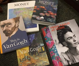 art, book, and monet image