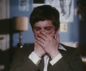 logan lerman, cry, and sad image