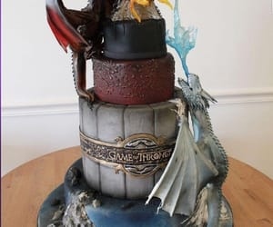delicious, dragons, and cake image