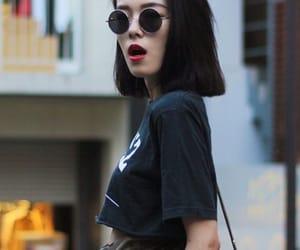 fashion, redlipstick, and cute image