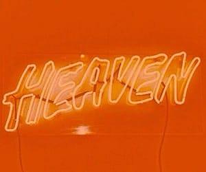 orange, aesthetic, and heaven image