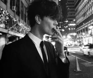 boy, cigarette, and smoke image